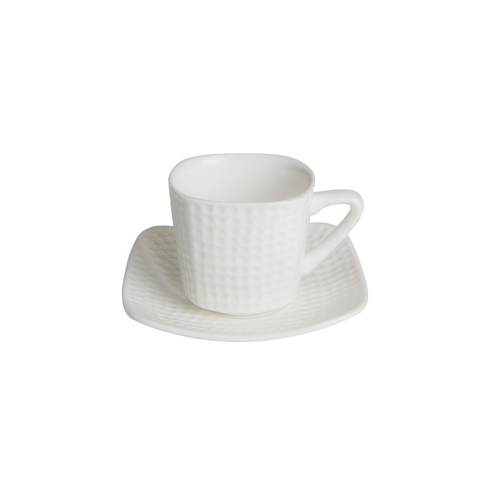 Taza de café con plato de porcelana Golf