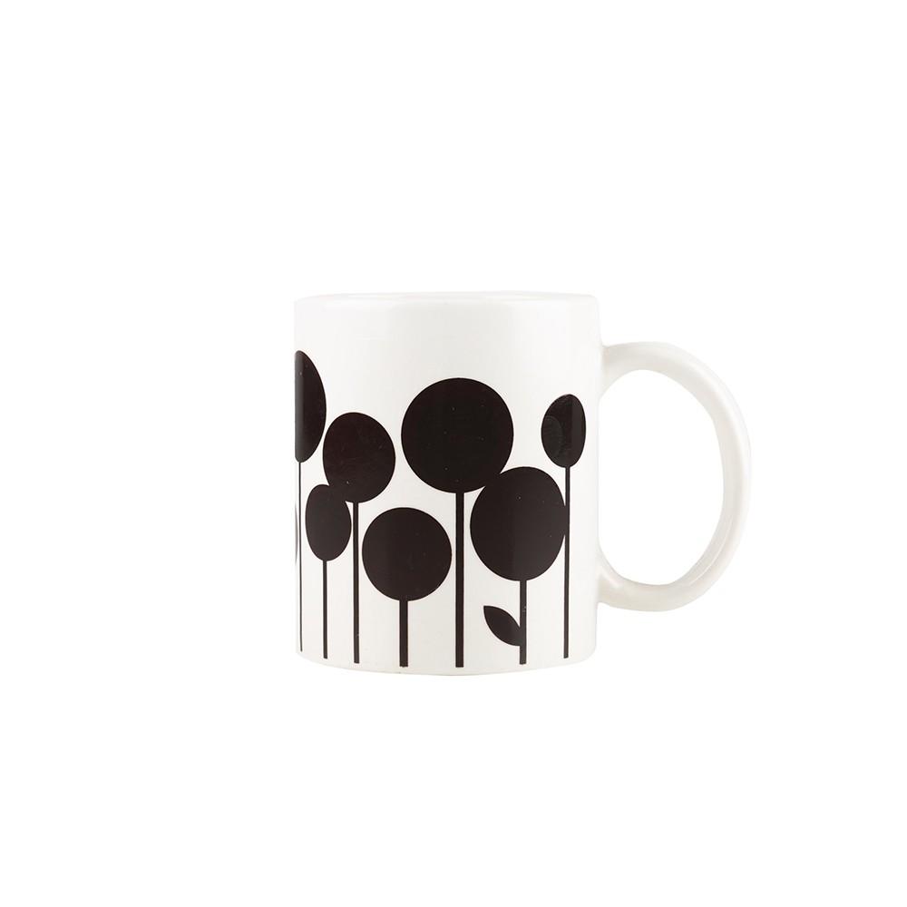 Taza de café con transformación flowering