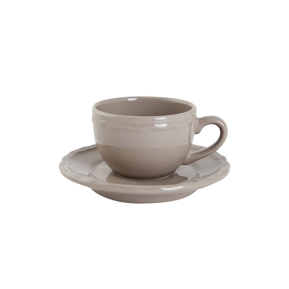 Taza de café con plato Bistro