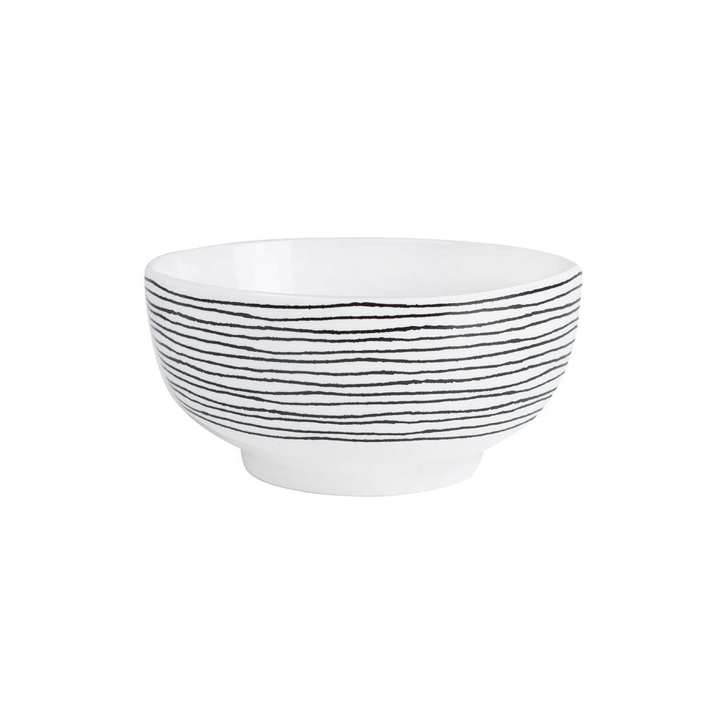 Bol de porcelana en blanco y negro