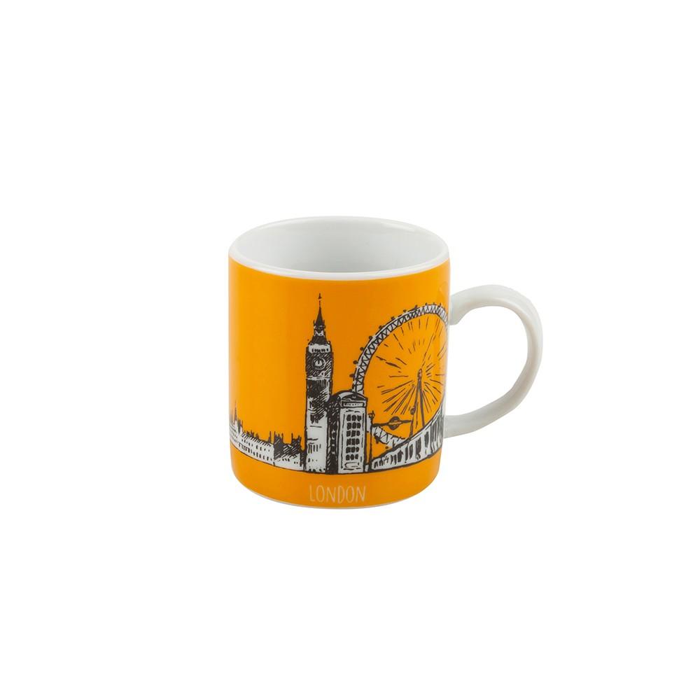 Taza de espresso estampado London