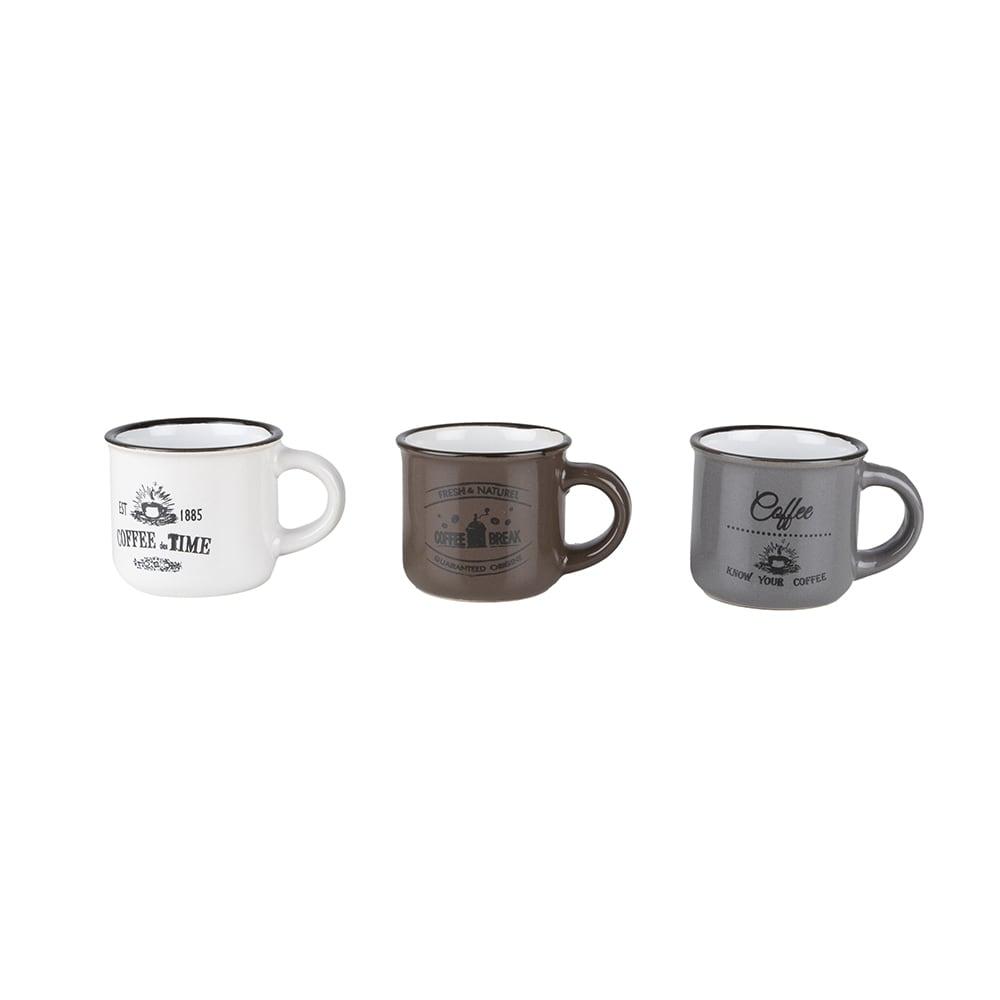 Set de 3 tazas de espresso