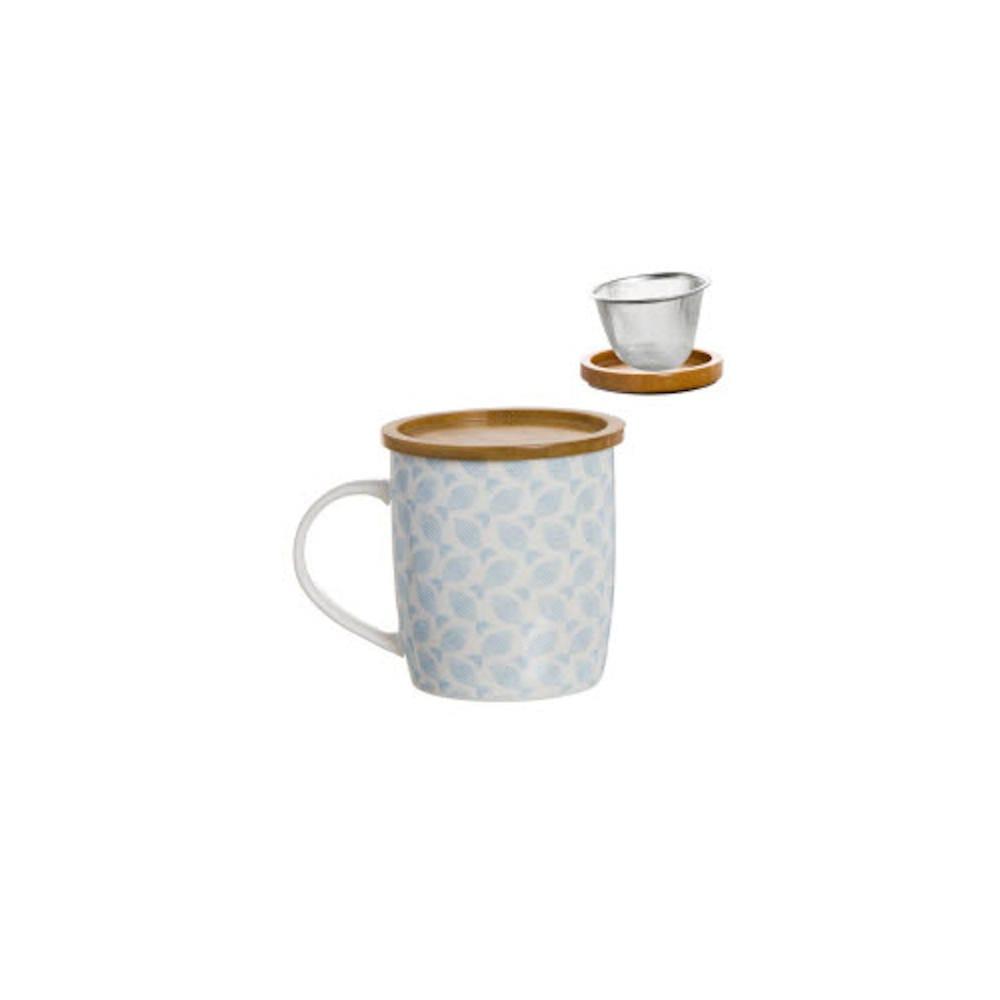 Taza de porcelana con filtro y tapa