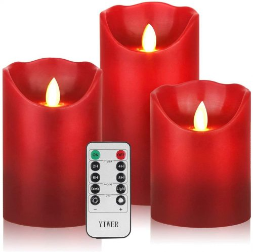 Pack de 3 velas sin llama (eléctricas)