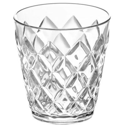 Vaso de plástico efecto cristal