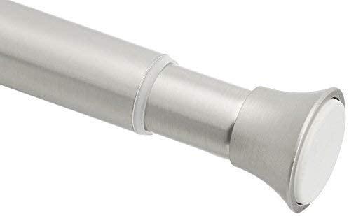Barra de tensión para cortina de ducha, 61 a 91 cm, níquel